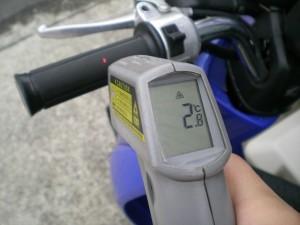 TODAYのグリップ表面温度