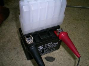 バッテリーの初期充電