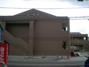 外壁工事も終わった向かいのハイツ