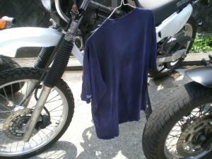 Tシャツを洗濯したー