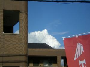 積乱雲と青い空