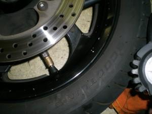 タイヤのビードを出す