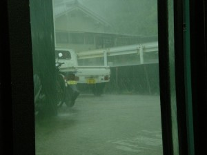物凄い豪雨