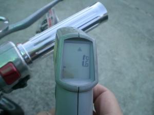 削り出しグリップの表面温度