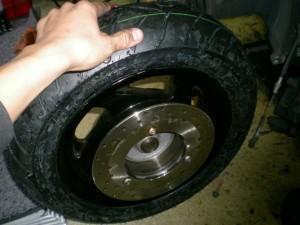 タイヤ交換後
