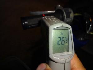 TODAYのグリップ表面温度 閉店時