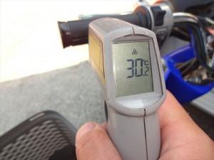 TODAYのグリップ表面温度 開店時