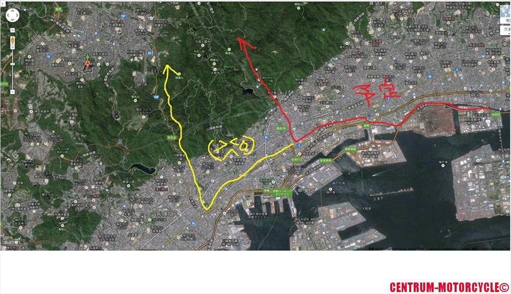 地図 新神戸トンネル