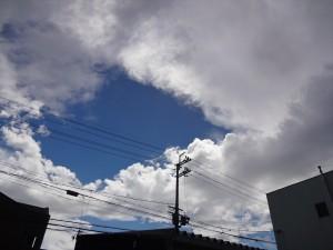 雲が出てきた