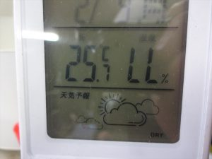 温湿計の表示