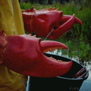 ロブスターハサミ型の手袋