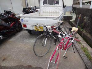 預かってきた自転車