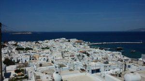 ギリシャ ミコノスの街並み