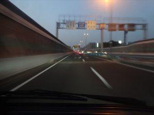 高速に乗って一路目的地へ
