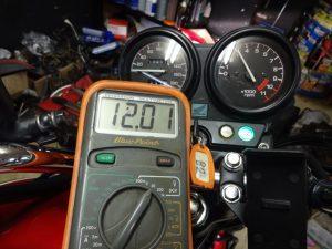 充電電圧のチェック