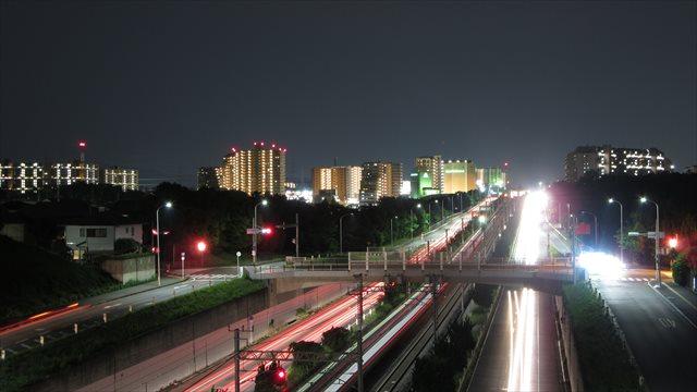 光明池駅側の夜景