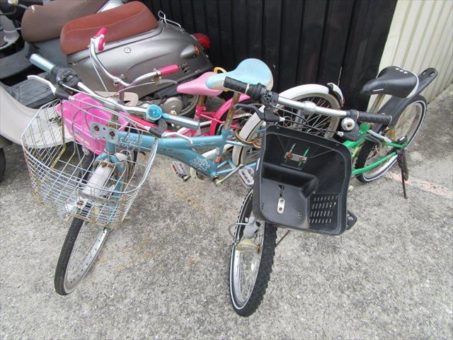 子供達の自転車
