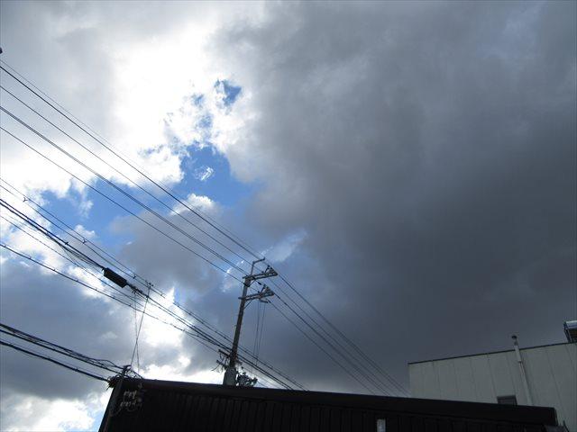 雪雲と青空
