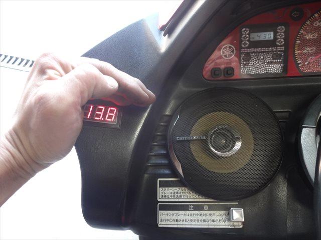 電圧計上の数値