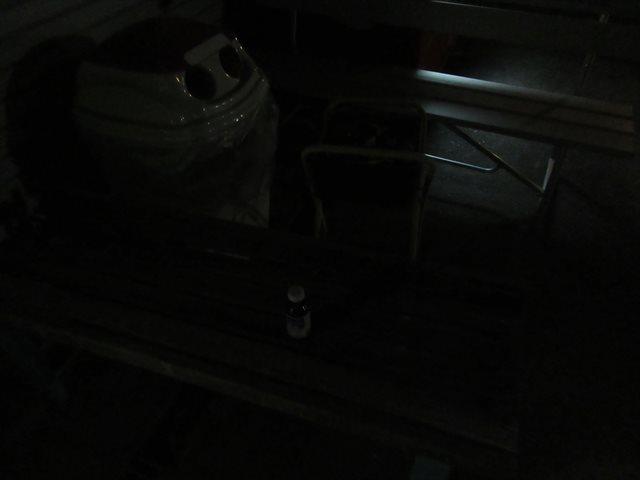 ベンチの上に何かある・・