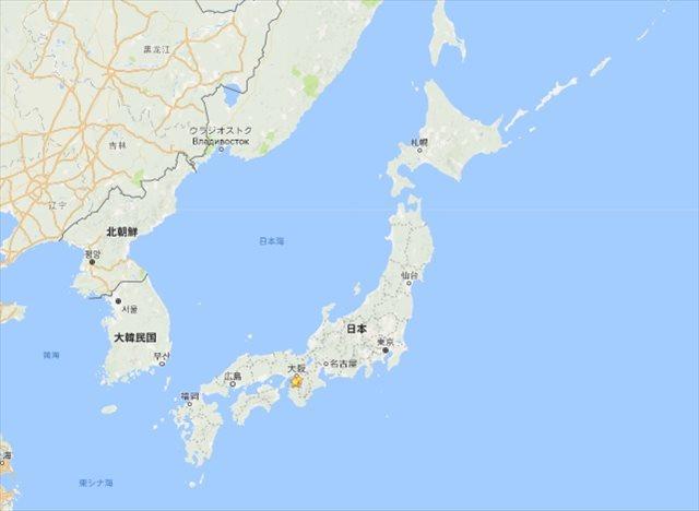 日本の大きさ