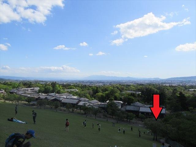 奈良市内を眺望